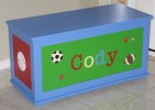 Sports Theme Toy Box